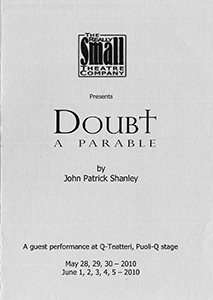 Doubt - A Parable